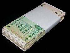 100 x Zimbabwe 1 Billion Dollar banknotes-full currency bundle