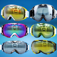 Snowboard Ski Goggles Anti Fog Dual Lens UV Protection Multilayers Foam w/ POUCH