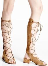 d1e3c577a78 Auth SAINT LAURENT Babies Suede Lace-Up Sandals GLADIATOR shoes Tan 38 8  $1,095