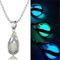 NEW Little Mermaid's Teardrop Glow in the Dark Pendant Necklace Valentine gift