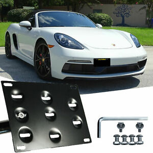 Tow License Plate Mount Bracket For Porsche Boxster Cayman 981 982 718 2012-2019