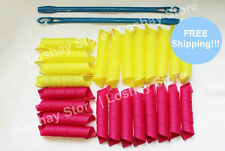 Curl Formers Kit Hooks Extra Wide Long Magic Spiral Hair Curler Perfect Rollers