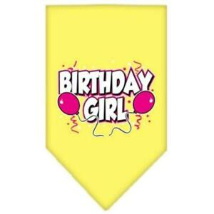 Mirage Pet Products Birthday Girl Screen Print Bandana, Small, Assorted Colors