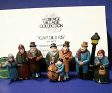 Dept 56 65269 S/3 Carolers With Black Post Heritage Village Retired With Box