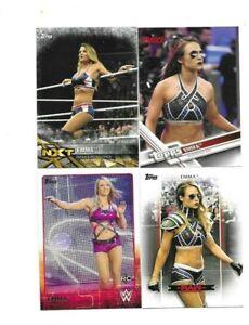 TOPPS WWE 4 EMMA WRESTLING CARDS BORN IN BORONIA AUSTRALIA NXT INSERT CARD ETC