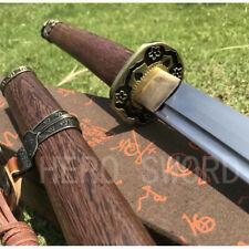 Handmade T1095 high carbon Japanese Tachi Full Tang Samurai Katana Sword Sharp
