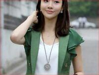 Hot Sale New Fashion Long Pendant  Vintage Flowers Shape Necklaces For Women