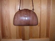Vinatge J Moulton Brown Snakeskin Handbag