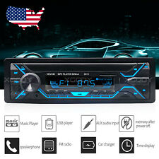 Car Audio Stereo Radio In-dash MP3 Player Bluetooth Handsfree FM USB TF AUX 1DIN