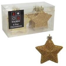 Adornos de color principal oro estrella para árbol de Navidad