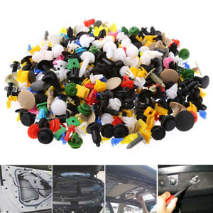 500PCS Push Pin Mix Door Trim Panel Clip Fastener Bumper Rivet Retain & Tool Set