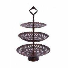 Decorative Three Tiered Cake Stand Cup Cake Muffin Stand - Various Finishes