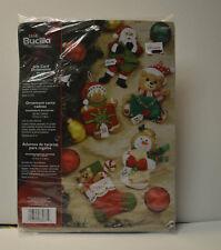 PLAID BUCILLA FELT NOEL CHRISTMAS GIFT CARDS ORNAMENTS KIT 5 Pieces NEW