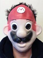 Mario Bros Costume Mask Luigi Adult Child Kids Latex Face Fancy Dress Party