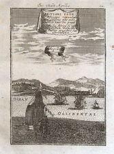 ALGIERS, ALGER. ALGERIA, BARBARY COAST, AFRICA Mallet orig. antique print 1719