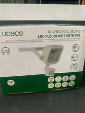 Luceco Guardian Slim Flood Light with PIR Motion Sensor and 1 Metre Cable, 15.5