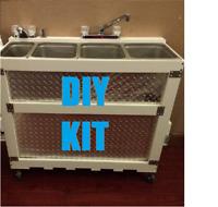 DIY Large Frame & Plumbing Kit Portable 3-4 Concession Sink + Hand Wash