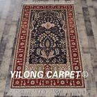 YILONG 3'x5' Handknotted Silk Carpet Eco Friendly Antistatic Area Rug 322B