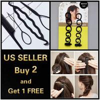 1/2/4/5/6/11 PCs Hair French Braid Clip Magic Styling Stick DIY Bun Maker Tool