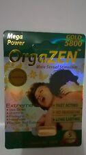 OrgaZEN Mega Power GOLD 5800 Male Sexual Stimulant, 10 Pills