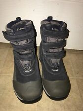 LL Bean 05455 Winter Hiking Insulated Boots Black Gray Youth Sz 4 NEW Suede