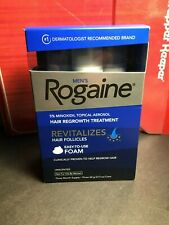 NEW Men's Rogaine 3 Months Supply Foam Hair Regrowth Treatment unscented SEALED
