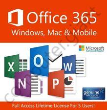 Microsoft Office 365 LIFETIME SUBSCRIPTION!!! 5 PCs Mac, Windows & Mobile