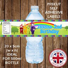 PERSONALISED TELETUBBIES WATER BOTTLE LABELS CHILDREN PARTY FAVOURS GIFTS BAG