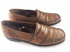 Alfani Mens Brown Penny Loafer Slip On Leather Dress Shoes (Made In Italy) 9.5 M