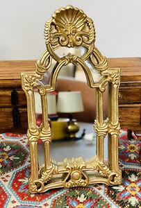 RARE Fantastic M./Bespaq Victorian GOLD Mirror 1:12 Dollhouse Miniature
