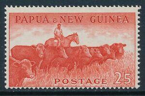1958-1960 PAPUA NEW GUINEA 2/5d VERMILLION (CATTLE) FINE MINT MNH SG23