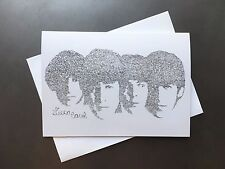The Beatles Birthday Card with Envelope Drawn From Their Birthday Song Lyrics