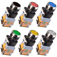 LA38 Maschinen Schalter Drucktaster Industrie Einbau 22mm Taster LED Beleuchtet