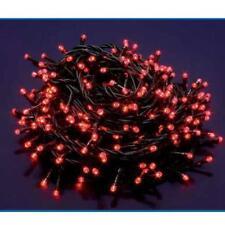 Catena 44 Metri Luci Di Natale Natalizie 480 Led Colore Rosso Filo Albero dfh