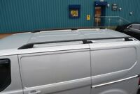 Black Alu Roof Rack Rails Side Bars Set To Fit SWB Ford Transit Custom (2012+)