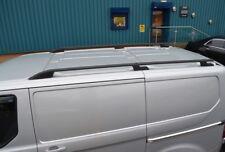 Black Alu Roof Rack Rails Side Bars Set To Fit SWB Ford Transit Custom (2012+)
