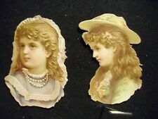 Victorian scrap # 6638 - PAIR OF GIRLS