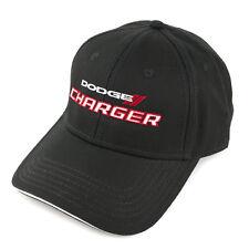 Dodge Charger Black Structured Cotton Sandwich Brim Hat
