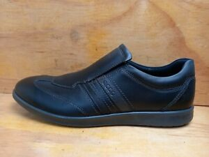 Ecco Black Leather Leather Slip-On Loafers Mens Shoes UK 9 EUR 43