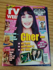 TV Week 1999 CHER,robert downey Jr,french stewart,anita hegh,mel gibson