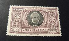 """ITALIA, ITALY REGNO 1923 """"Morte Alessandro MANZONI """" 5 L. MH* centrato e Signed"""