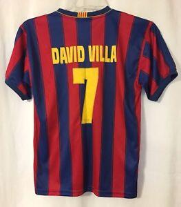 FC Barcelona FCB Barca David Villa Sanchez #7 Jersey Sz. 14 (Youth L/XL Mens XS)