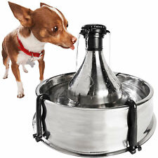 PetSafe Drinkwell 360 Stainless Steel Multi-Pet Dog and Cat Water Fountain, 128