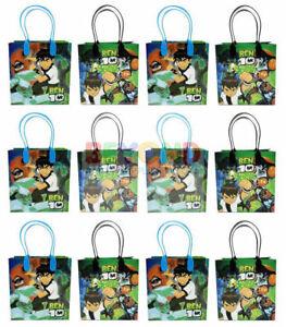 Cartoon Network Ben 10 Party Favor Supplies Goody Loot Gift Bags [12ct]