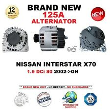 FOR NISSAN INTERSTAR X70 1.9 DCi 80 2002-ON ALTERNATOR 125A with CLUTCH PULLEY