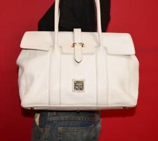 DOONEY & BOURKE Large DILLEN PRISCILLA FLAP White Leather Purse Shoulder Bag