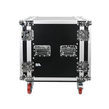 14 Space Pro Audio Dj Road Rack Case with Dj Work Table & Casters - Pro Grade