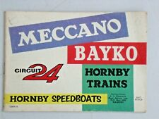 MECCANO, BAYKO, CIRCUIT 24, HORNBY TRAINS & SPEEDBOATS  EAST AFRICA CATALOGUE