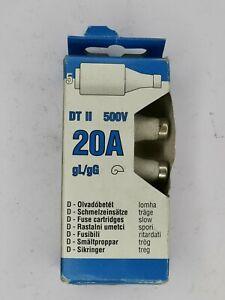 5 X KVGY20A BOTTLE FUSE 20AMP 500V  gG - gL bottle fuse (DTII)