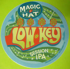 LOW KEY SESSION IPA Beer STICKER Label Magic Hat Brewing, VERMONT India Pale Ale